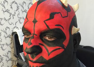 Darthvader facepainting