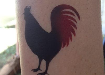 Two-toned airbrush tattoo
