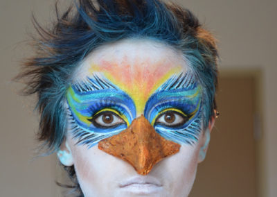Bird Face Paint Circus Dreamland