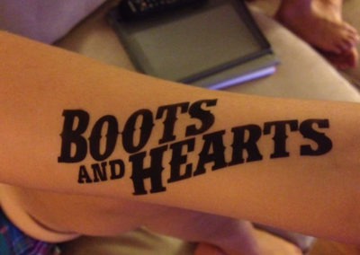Boots and hearts tattoo