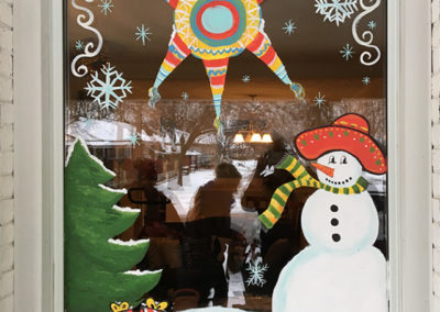Home Christmas Window Painting