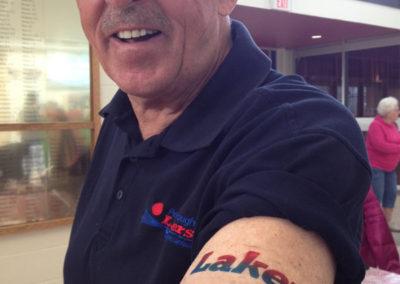 Lakers airbrush tattoo